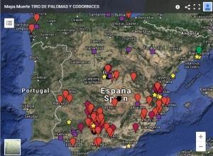 Mapa de campeonatos 2015 en España