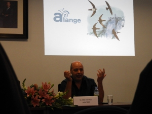 José Antonio Montero en el festival de los vencejos de Alange