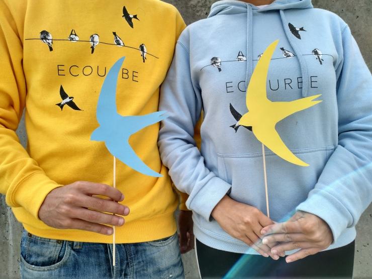 Ecourbe siluetas de vencejos para el world swift day