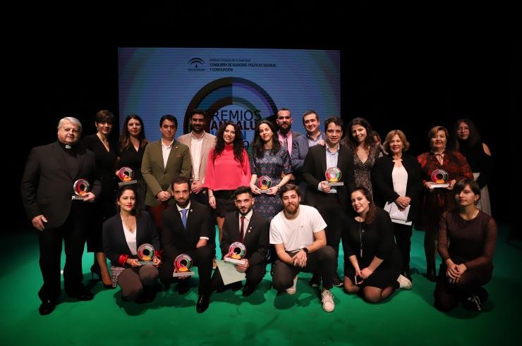 Acto de entrega de los Premios Andalucía Joven 2019, celebrado en el Gran Teatro de Huelva.